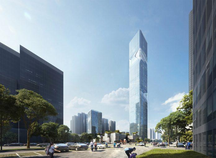 New Pingshan Eye in Shenzhen, China designed by architecture studio RMJM Shenzhen.
