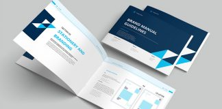 A professional brand manual guidelines template for Adobe InDesign.