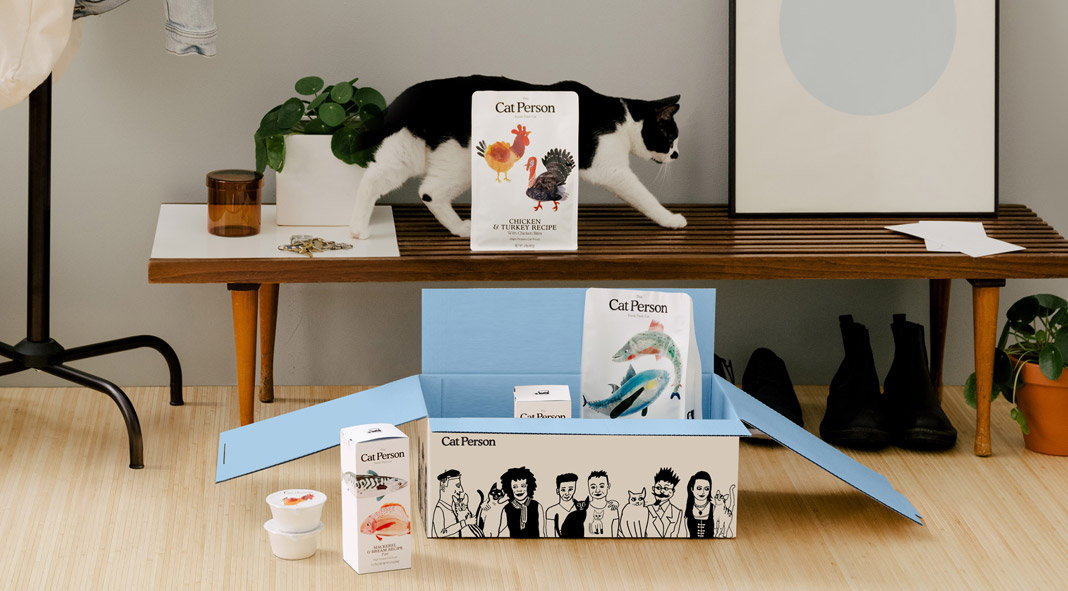 Cat Person unboxing experience by graphic design and branding studio SLATE.