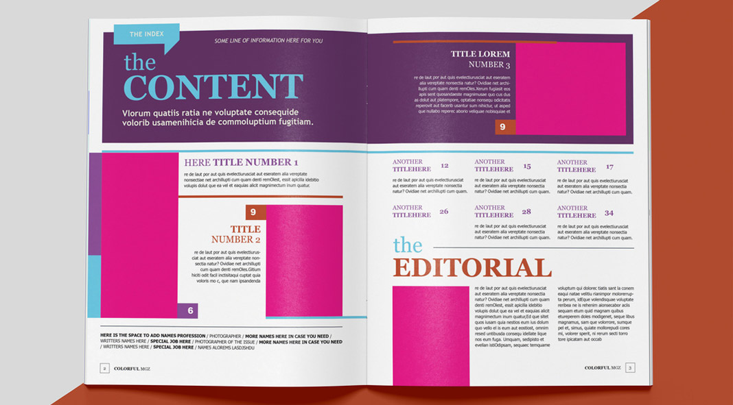 Colorful Magazine Template for Adobe InDesign