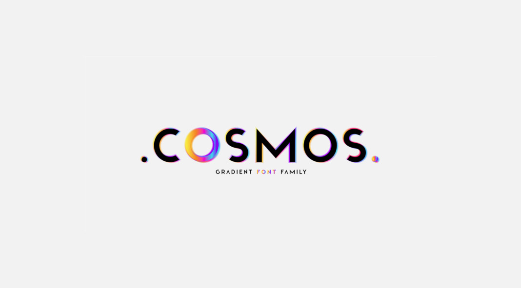 Cosmos, a gradient font family by foundry Luxfont.