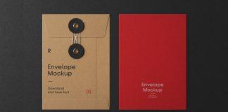 Envelope Mockups for Adobe Photoshop with String Closure