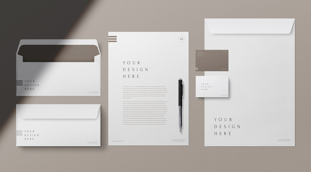 Five Stationery Mockups for Adobe Photoshop