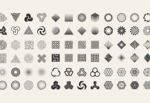 Geometric signs, an almost infinite collection of vector shapes for your graphic design projects.