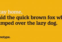 Pangrams that Remind Creatives to Stay Home