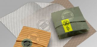 Paper packaging design mockups for Adobe Photoshop.