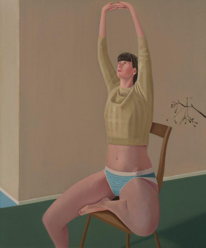 Prudence Flint, Stretch 2017, oil on linen, 122 x 102cm