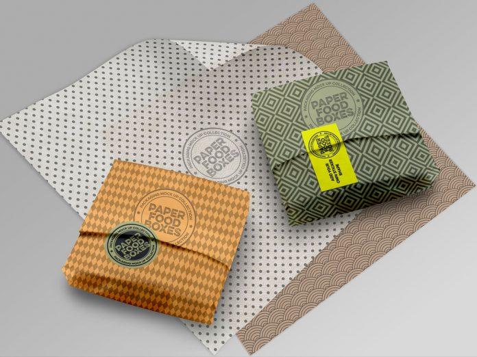 Sandwich paper wrapper mockup.
