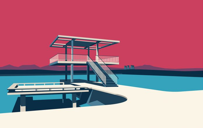 Soviet Modernist Architecture in Armenia Series illustrated by Nvard Yerkanian.