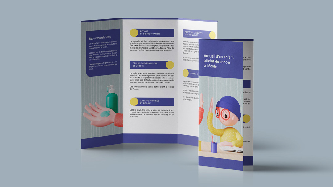 Children's communication design by Get it Studio for Swiss Cancer Associations.