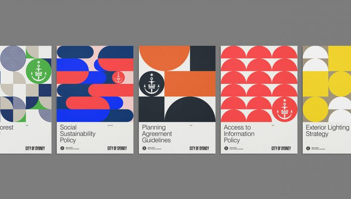 City of Sydney identity by graphic design and branding agency For The People.