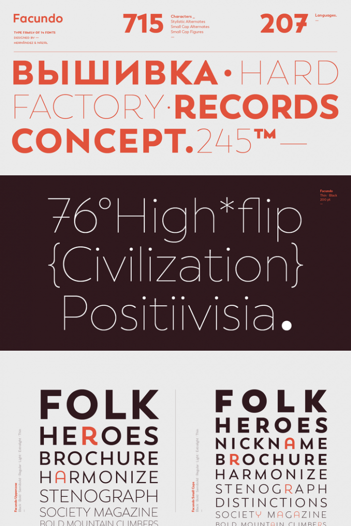 Facundo font family by Latinotype.