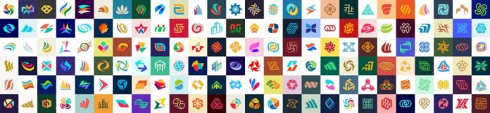 This geometric logo templates collection is available for download as fully editable vector graphics.
