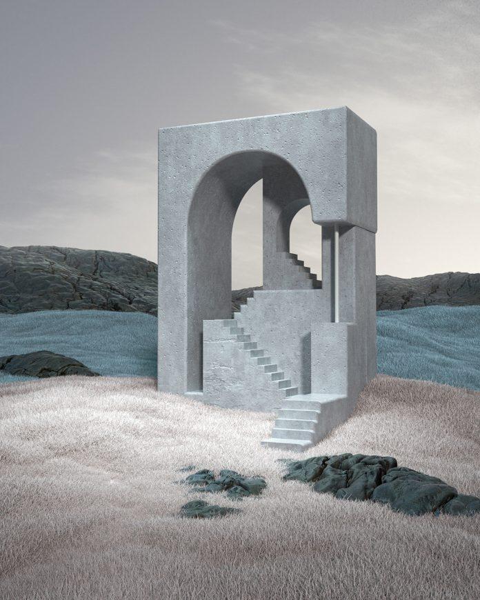 'Stairs' is an Escher-inspired series of architectural 3D renderings by Murat Yıldırım.
