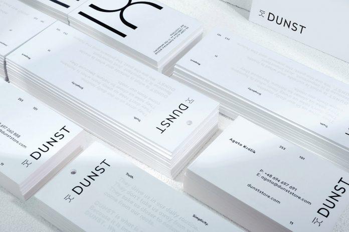 Dunst fashion branding by Konrad Sybilski.