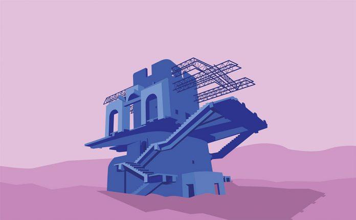 Soviet Modernist Architecture in Armenia Series illustrated by Nvard Yerkanian.