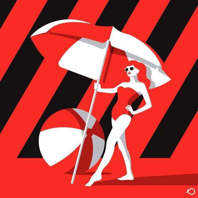 Beach Lady - Illustration by Kostis Pavlou