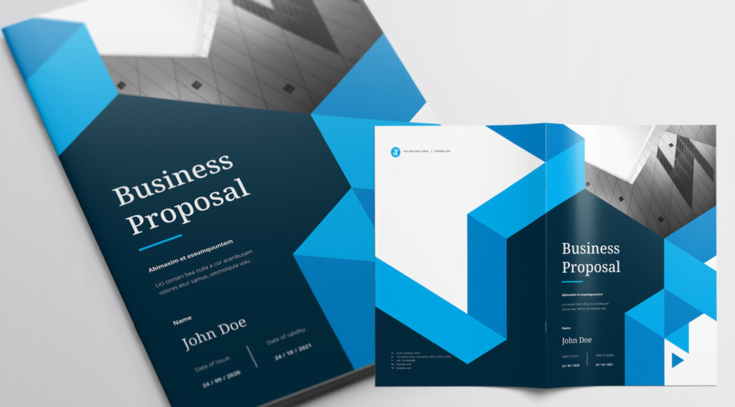 Business Proposal Template with Blue Accents