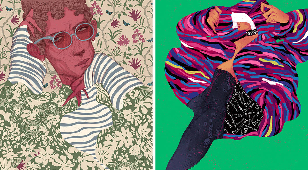 Expressive fashion illustrations and animations by Ariadna Sysoeva.