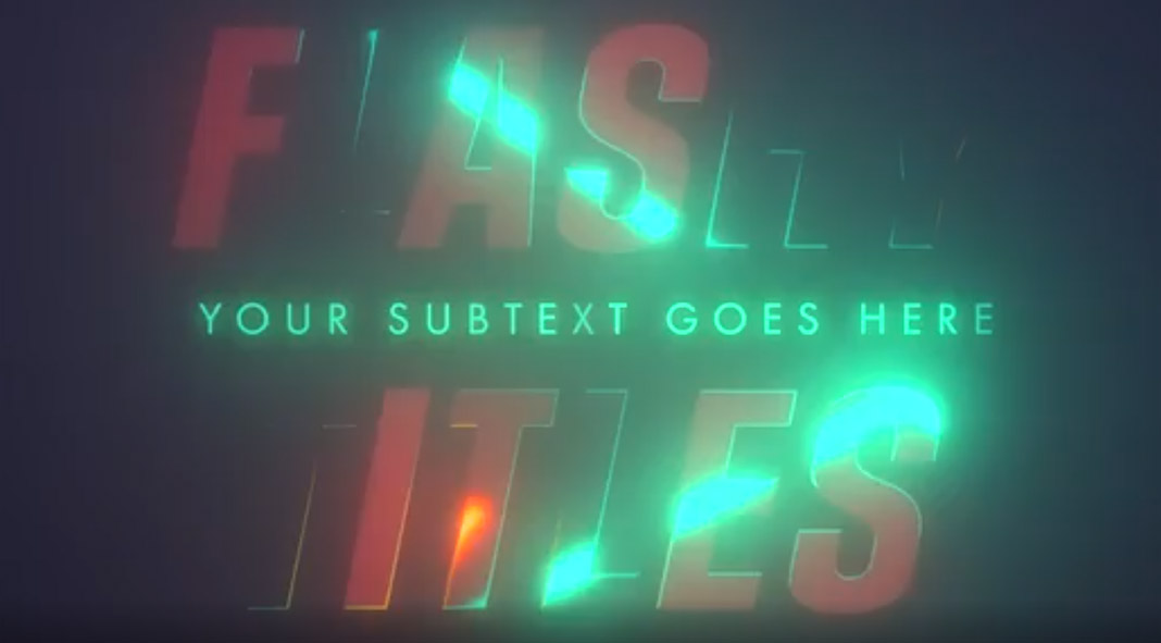 Five Easy-To-Use Adobe Premiere Opening Title Sequences