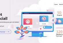 Fully editable website header illustrations with 3D elements