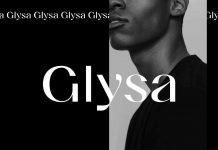Glysa typeface by font designer Victor Bartis.