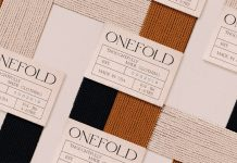 Onefold branding by graphic design studio Futura.