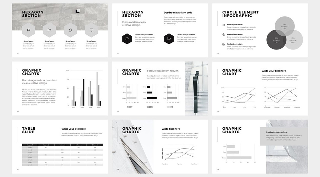 Six High-Quality Presentation Templates for Keynote, Powerpoint, and Google Slides