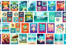 Summer vacation vector graphics.