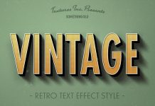 Vintage Text Effects for Adobe Photoshop.