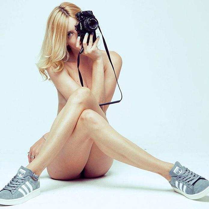 Self-portrait of London based photographer Micaela McLucas.