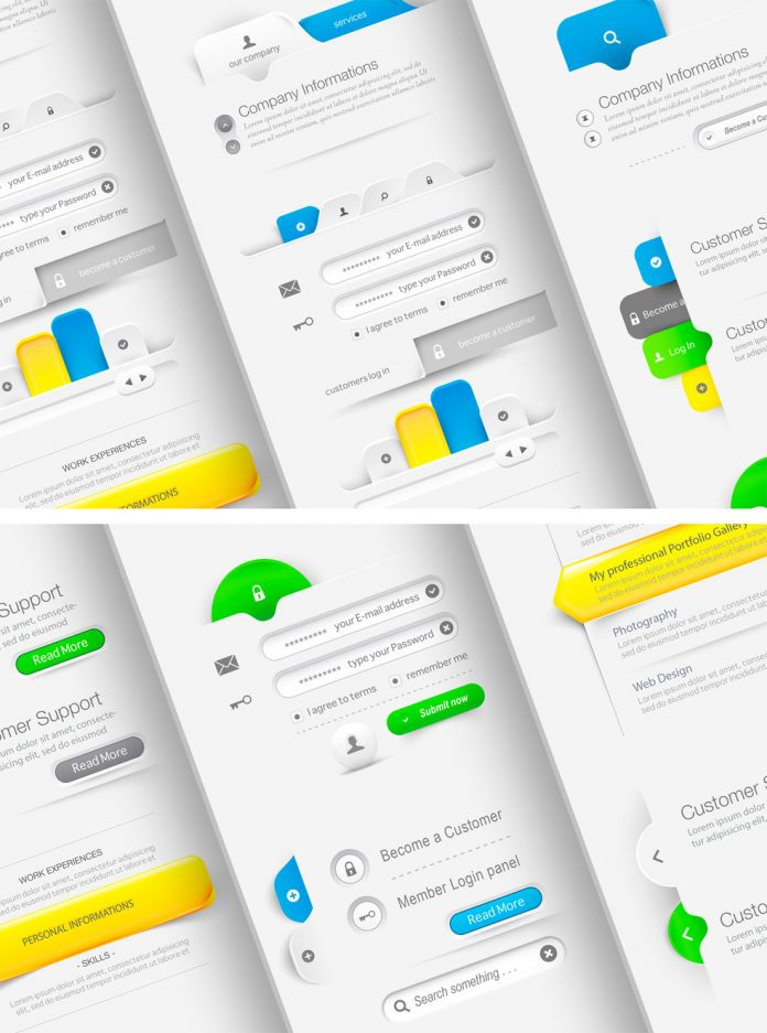 Web UI Navigation Kit by Adobe Stock contributor Liquid Layout.
