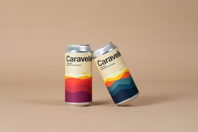 Caravelle beer labeling by graphic design studio Hey.
