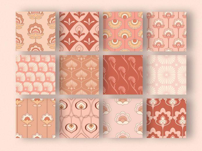 Vintage patterns set.