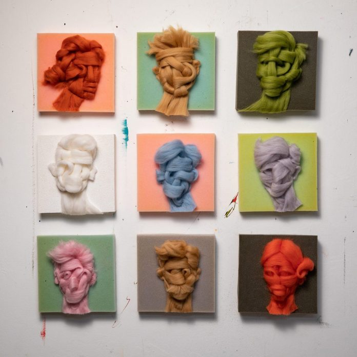 Wool on Foam portraits by Salman Khoshroo