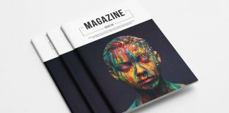 A fully customizable magazine template made for use in Adobe InDesign.