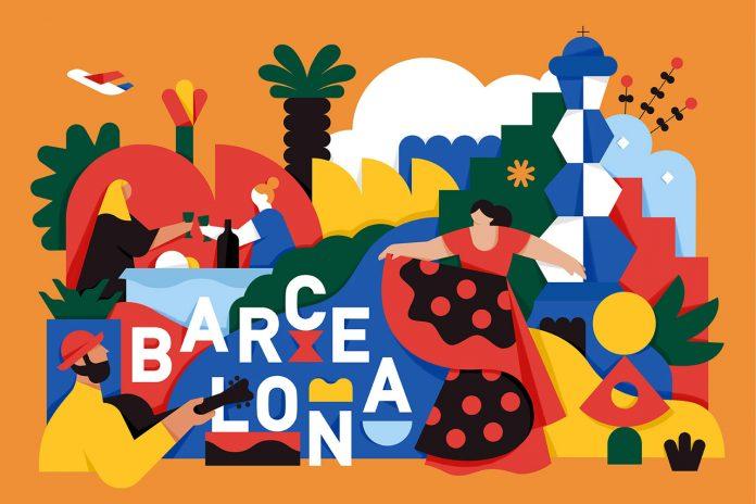 Barcelona, illustration by Mateusz Napieralski