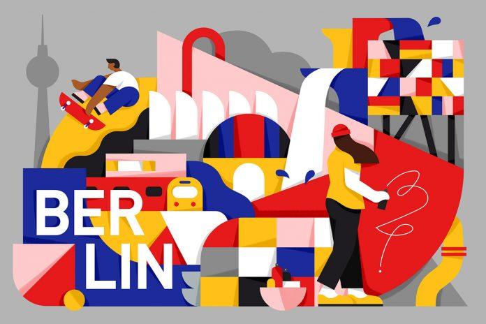Berlin, illustration by Mateusz Napieralski