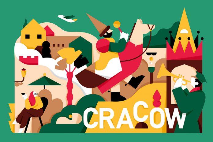 Cracow, illustration by Mateusz Napieralski