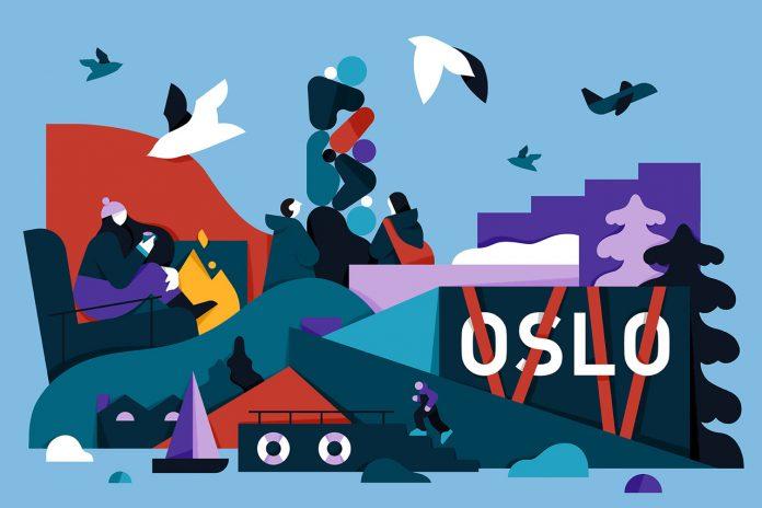 Oslo, illustration by Mateusz Napieralski