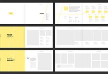 Personal and Agency Portfolio Template with Yellow Accents.