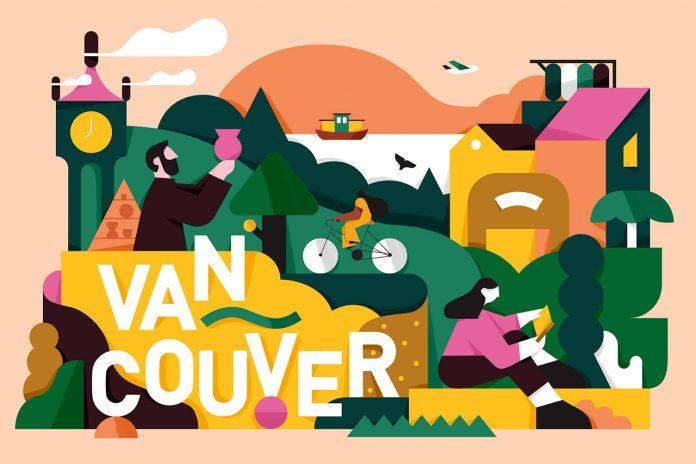 Vancouver, illustration by Mateusz Napieralski