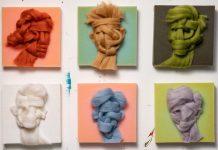 Wool on Foam portraits by Salman Khoshroo