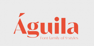 Águila font family from Latinotype.
