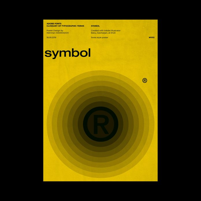 SYMBOL, typographic poster design inspired by Swiss graphic design.