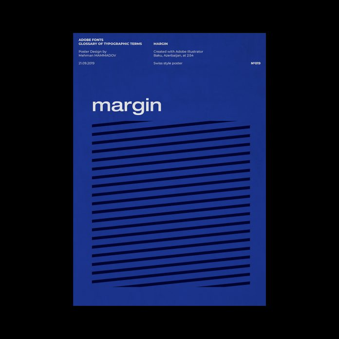 MARGIN, typographic poster design inspired by Swiss graphic design.
