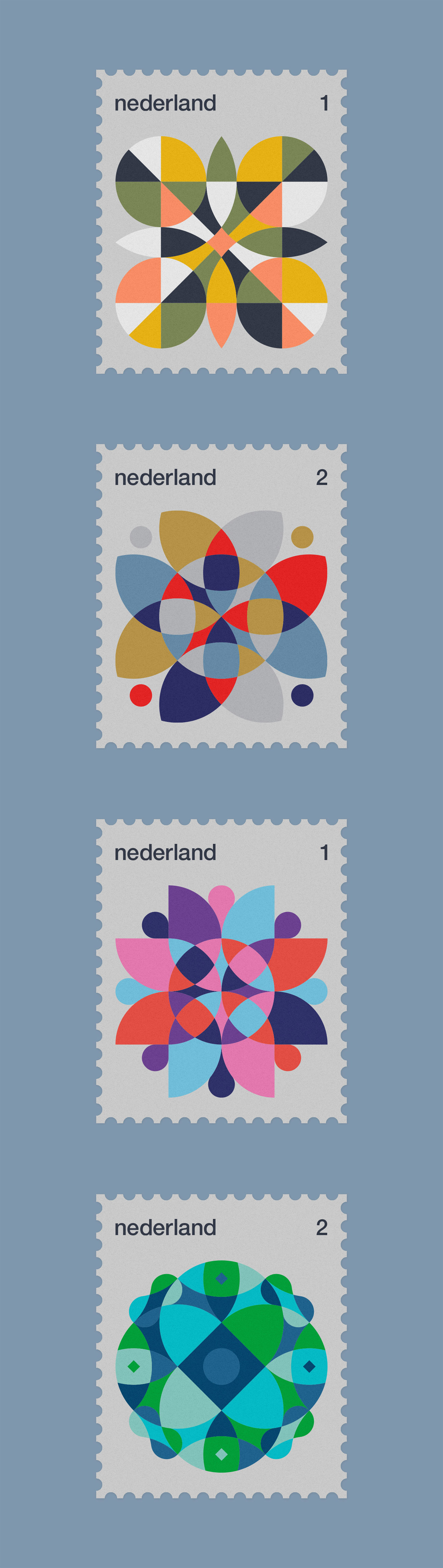 Dutch Stamps, a graphic design series by Rick Jordens.