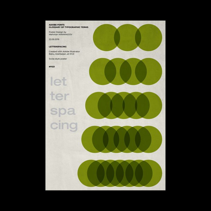 LETTERSPACING, typographic poster design inspired by Swiss graphic design.