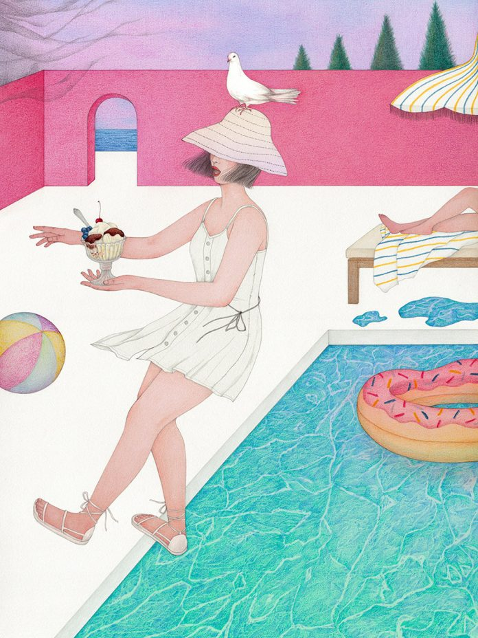 On Pause, a personal illustration project by Vicki Ling.