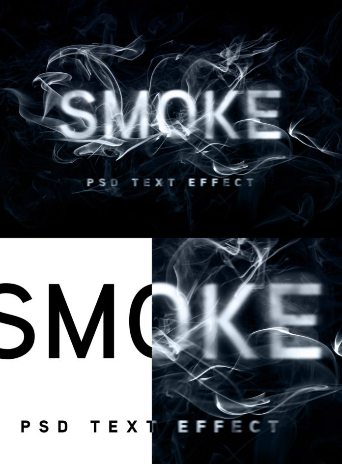 This is another smoke text effect template for Adobe Photoshop.